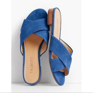 Talbots Indigo Blue Sailor Sandals